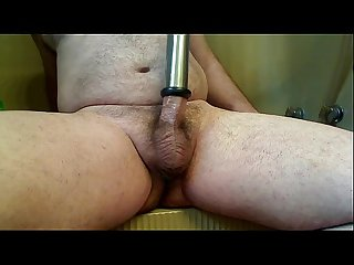 first day using milker on my cock, (with cum at the end)