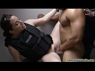 Busty cop riding big black dick