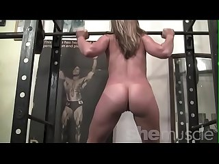 Flexible Teen Fitness Model Gets Naked in Gym