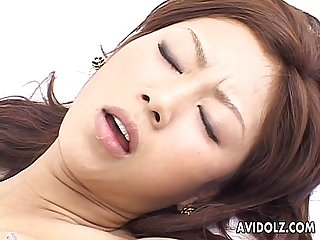 Asian cock addict has a fat dick stuck in her