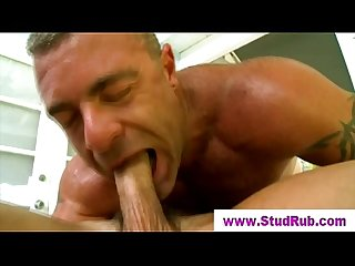 Straight guy fucked with dildo by gay masseur
