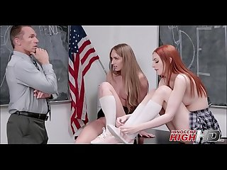 Two High School Girls Daisy Stone And Maya Kendrick Orgasm While Being Fucked In Ass By Teacher..