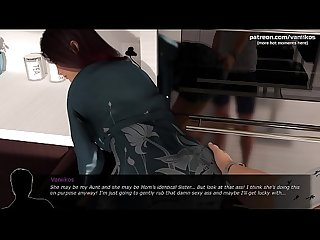 Indecent Desires | Pervert stepson spying after a hot milf mom with big tits while she's..