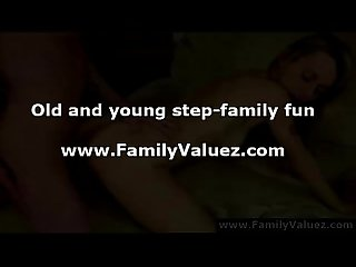 Anal fucking for blonde teen daughter from older guy