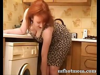 beautiful woman of my red mom | mfhotmom.com