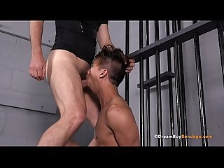 Prison Guard Punishes Pretty Boy Asian Punk By Forcing Him To Deep Throat His Cock - BDSM Whipping..