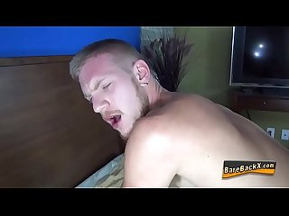 Stud fucks ass bareback