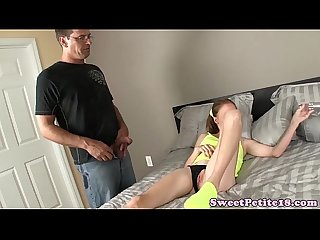Redhead ginger cockriding after using dildo