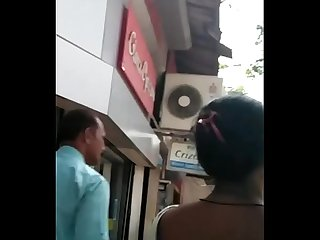 SLUTTY BHAIYANI EXPOSING BLACK BRA ON ROAD 2