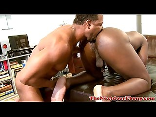 Muscular brown hunk rimming friends ass