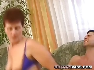 Muscle Army Guy Fucks Ugly Hairy Granny