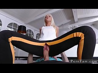 Blonde taboo handjob mom partner's daughter anal Stretching Your