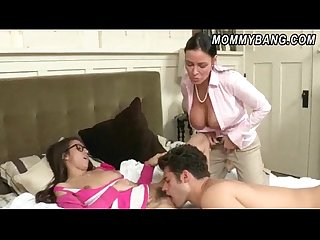 Vanilla Deville having sex with her stepdaughter April Oneil