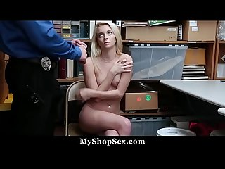 Shy Teen Takes Loads of Cum as Punishment For Stealing - Riley Star