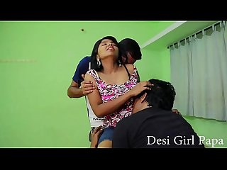 Desi Girl Sex gangbang with lovers shooting time