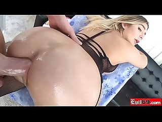 Round ass blonde MILF fucked in the ass by a huge cock