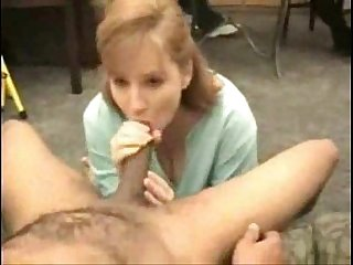 Redhead Dawn in an interracial threesome