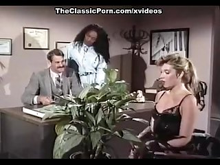 Mauvais DeNoir, Megan Leigh, Mike Horner in interracial sex episode with classic