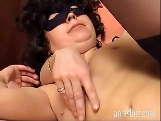 Sweet italian brunette with hairy pussy fucking